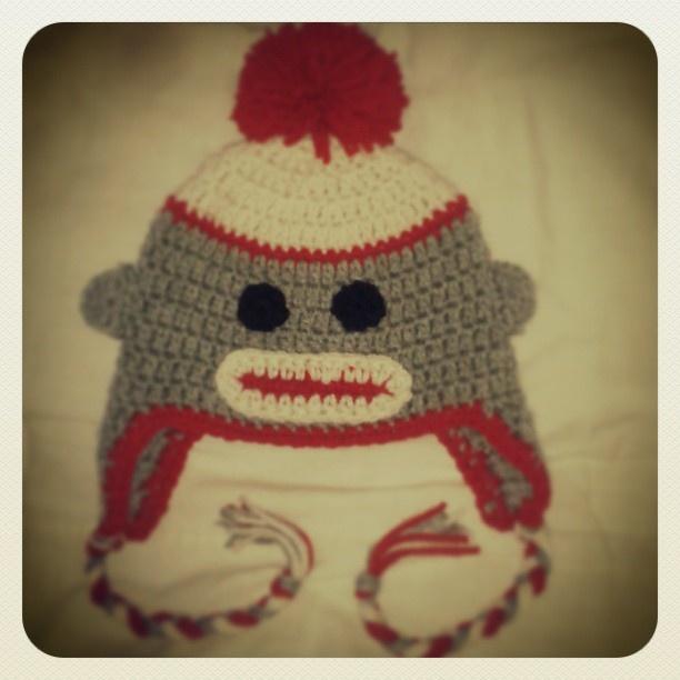 #baby #monkey #hat #crochet