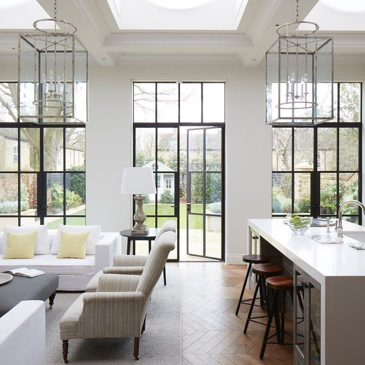 Large Glass Windows And Doors Modern Victorian Homes House Design Home