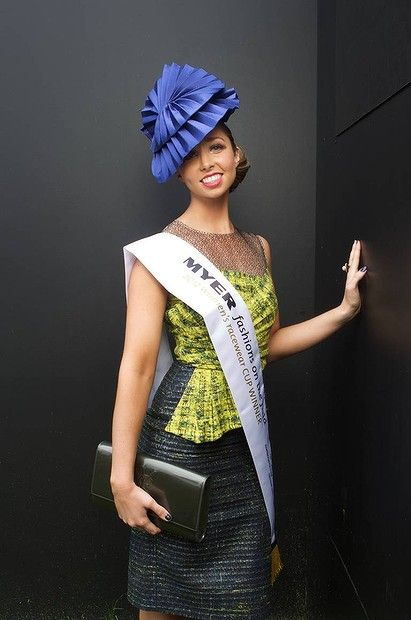 2012 Melbourne Cup Myer fashions on the field winner Lauren Andrews.