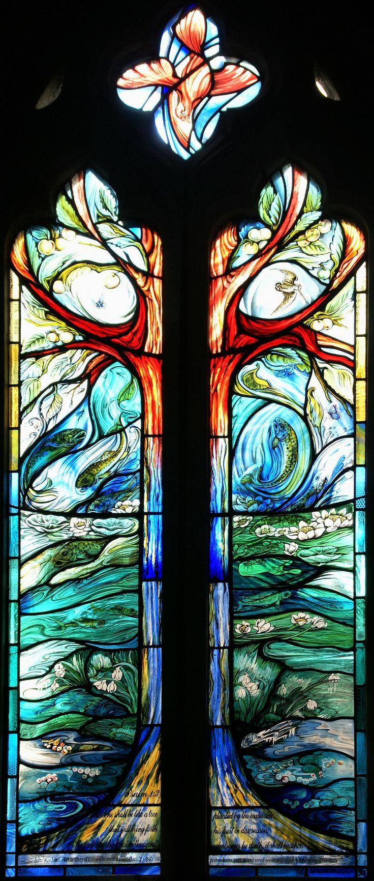 https://flic.kr/p/yFpzsB | Longparish Four Seasons stained glass window…
