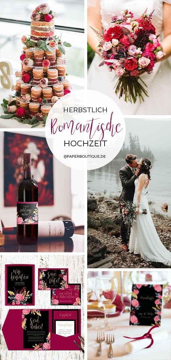 Eine Hochzeit im Herbst heisst heiraten mit vielen Blumen und in schweren Farben…