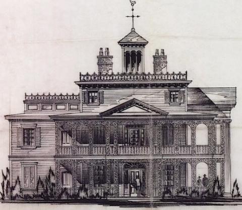 Haunted Mansion concept art by Mark Davis | Designing Disney
