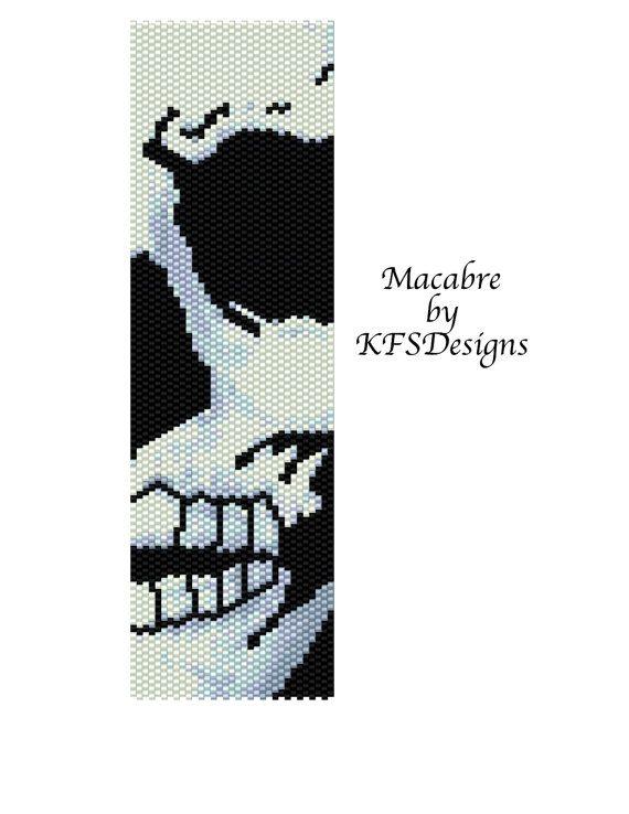 Peyote Bracelet Pattern  Macabre Buy 2 Patterns  get by KFSDesigns, $6.50