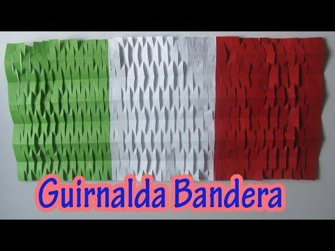 ▶ Manualidad : Decoracion de Fiestas Patrias | Guirnalda bandera - Flag garland - YouTube