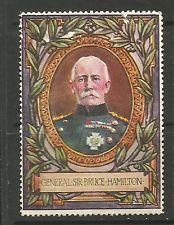 GB/UK/WWI Lord Roberts Memorial Fund poster stamp NG General Sir Bruce Hamilton