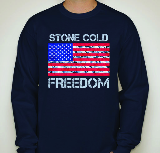 SCF | Stone Cold Freedom | Patriotic Unisex Long Sleeve T-Shirt | Navy