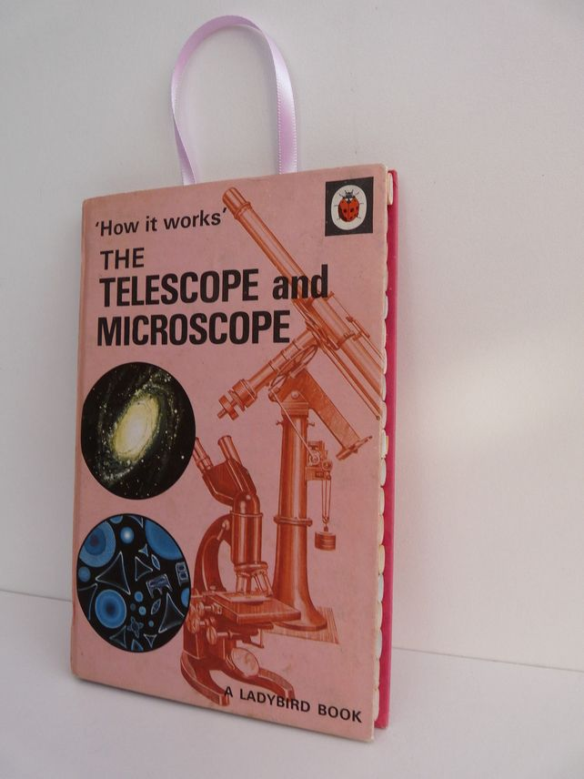 Ladybird and bug Home -  Upcycled Ladybird Book: The Telescope and Microscope