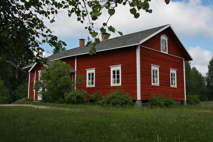 Scandinavian Country Style Old Finnish Country House In