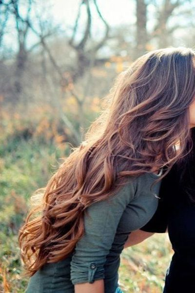 Curl just the ends of long layers and tousle for natural-looking body and bounce.Photo: Pinned by Shivanni Singh via Brooke Kekos