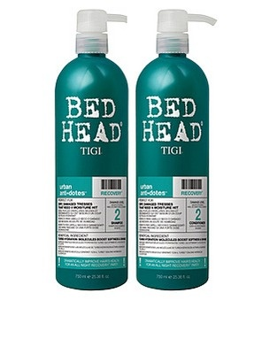 Tigi Bed Head Recovery Urban Antidotes Shampoo and Conditioner. For hair that's moderately dry or damaged. Lighter weight.