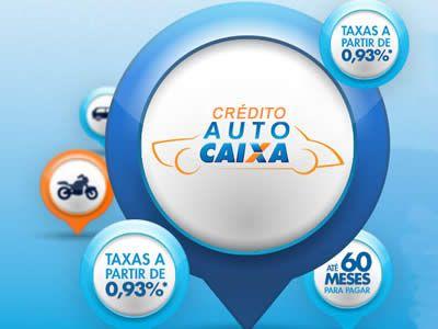 Conheça o Crédito Auto Caixa com taxas e prazos diferenciados para você comprar seu veiculo zero KM ou usado, veja como funciona, conheça o ...