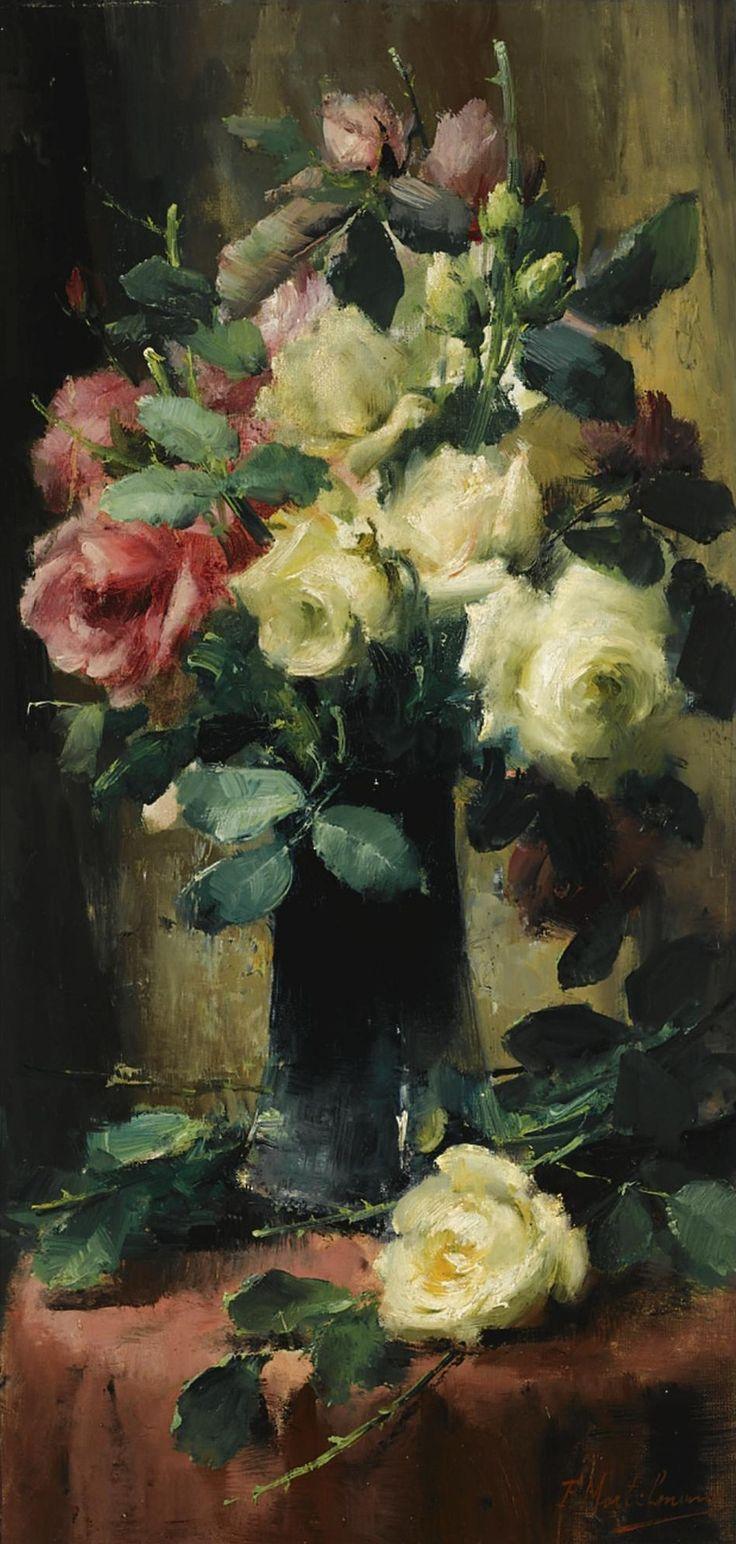 Roses in a Vase, Frans Mortelmans