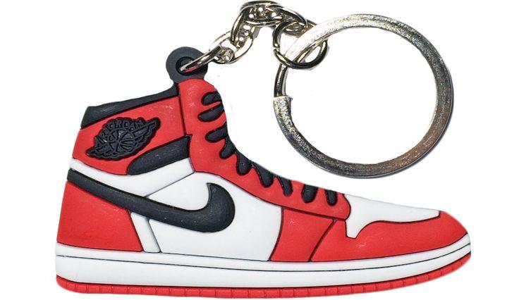 """Nike Jordan 1 Red Black White """"Chicago"""" 2D Flat Keychain"""