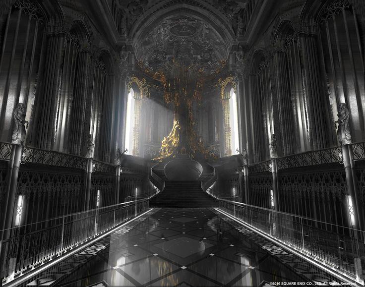 ArtStation - Final Fantasy XV   Kingsglaive   Audience chamber, Paul Chadeisson
