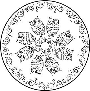 Mandala búhos