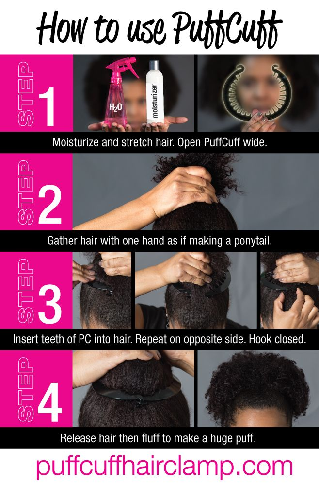 The proper way to use PuffCuff Hair clamp.