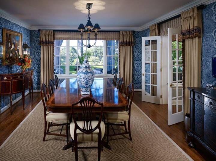 Blue Dining Room Endearing Design Decoration