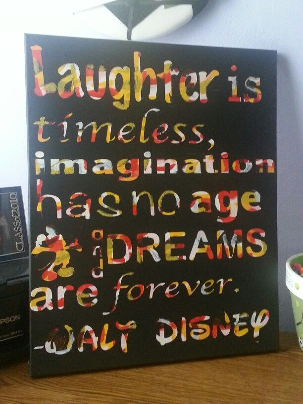 Disney canvas made with canvas acrylic paint vinyl for How to make canvas painting