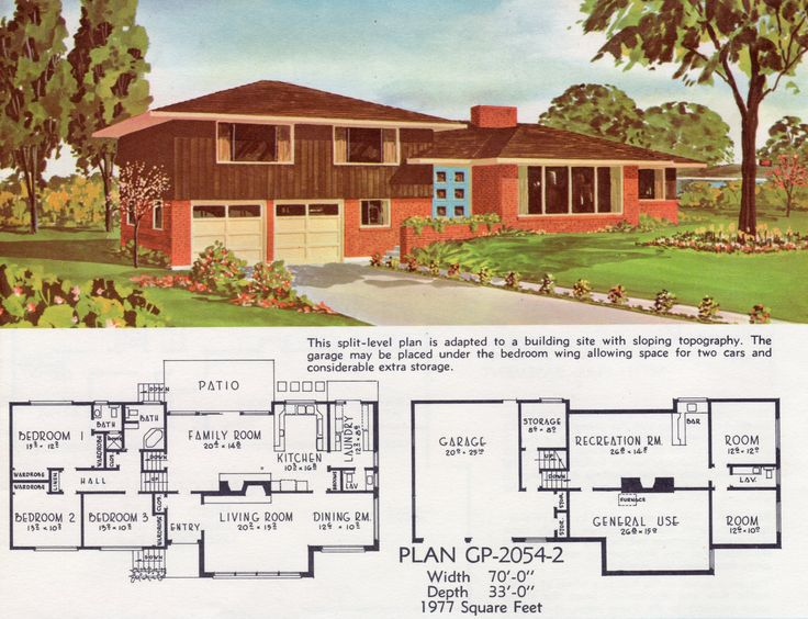 Vintage house plans vintage houses georgia pacific mcm house modern houses small houses modern house plans mid century house building plans