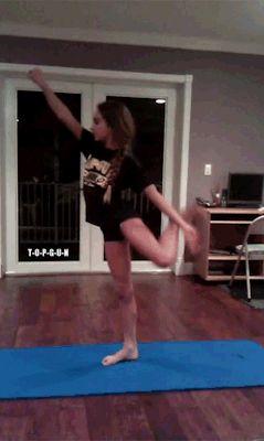 mine amazing gymnastics flexible cheer cheerleading flexibility needle top gun scorpion straight scorpion top gun allstars all star cheerleading gabi butler straight leg