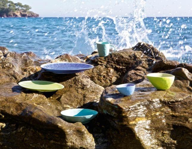 assiette et bol collection a la plage asa selection. Black Bedroom Furniture Sets. Home Design Ideas