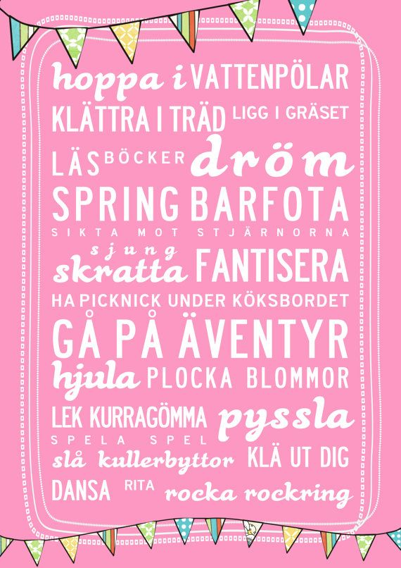 Happy Words in Swedish