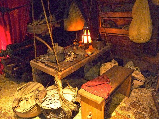 Pirate Ship Interior Inside A 18th Century Pirate Ship