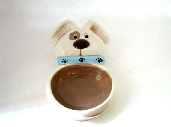 Customized Ceramic Dog Food or Treat Bowl -5 inches wide, hand made