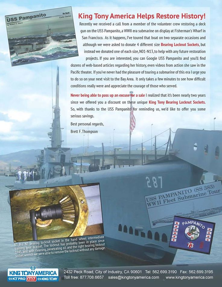 Thank you for all the Men and Women who faithfully serve our great country. The USS PAMPANITO is a small reminder of the history of our nation. http://www.maritime.org/pamphome.htm #USSPAMPANITO #WWII #kingtonyamerica #ktprotools #ktpro