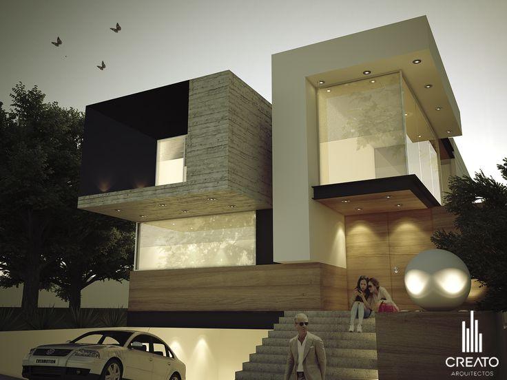 #fachada #casa El Cielo Country Club Guadalajara Jalisco Creato Arquitectos