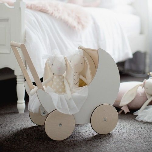 Wooden Toy Pram - Ooh noo