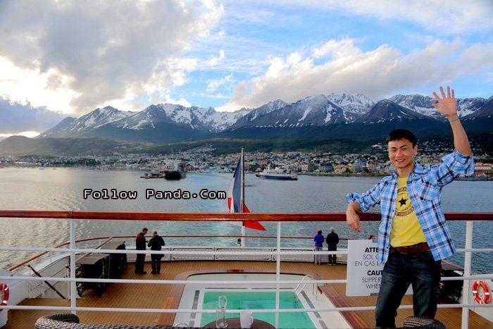 View of Ushuaia Port Skyline from A&K Le Boreal Luxury Antarctic Cruise Ship - Ushuaia, Tierra del Fuego, Patagonia, Argentina | FollowPanda...