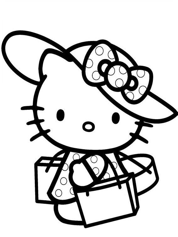 44 besten Hello Kitty Bilder auf Pinterest | Malvorlagen, Malbücher ...