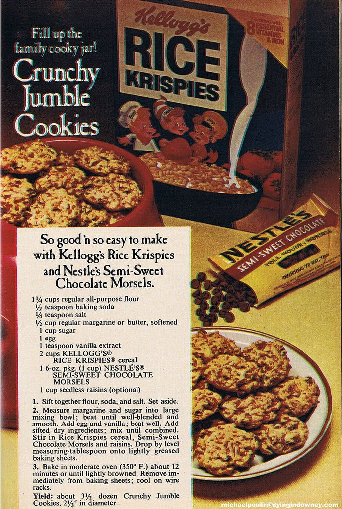 https://flic.kr/p/4JUaAH | Crunchy Jumble Cookies recipe from the 1970's |  They…