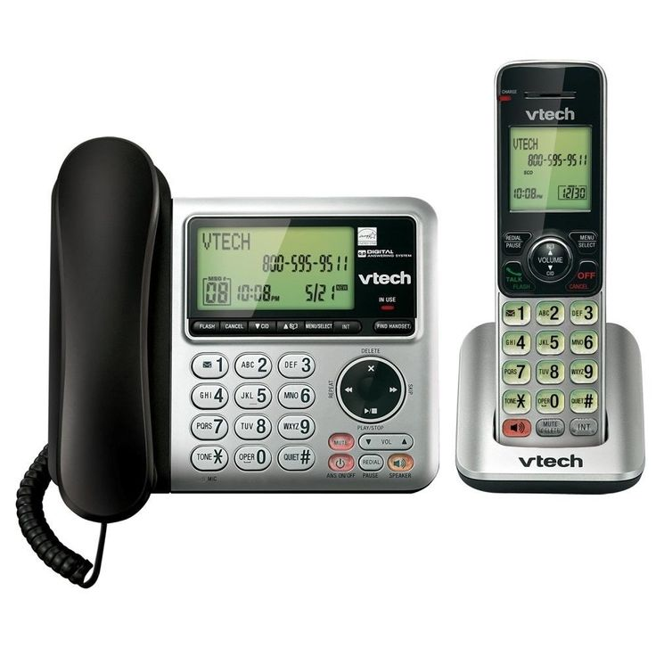 Telephone With Answering Machine Corded Cordless Phone Caller ID Call Waiting #VTech #cordless #phones