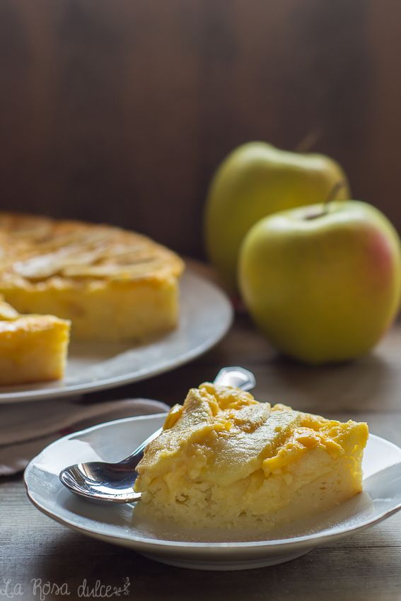 Tarta de manzana ligera | sin azúcar, sin gluten, sin lactosa - la Rosa dulce