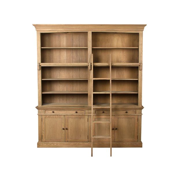 josephina bookcase with shelves left ballard designs see more winchester library case