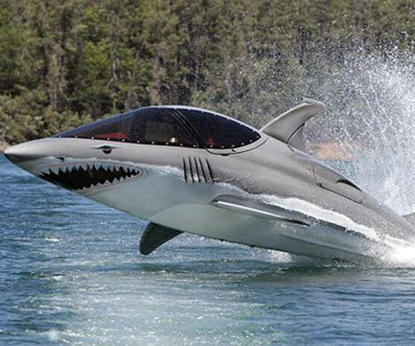 Seabreacher X Water Jet. A submersible jet ski with a 1500cc engine that looks like a shark. Seriously.