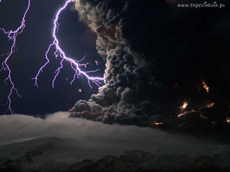 Burza, Wulkan