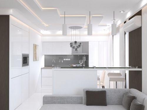 Кухня гостиная в стиле модерн фото