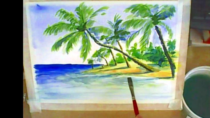 Acuarela paso a paso: Tecnica Acuarela seco sobre seco: Como Pintar con ...