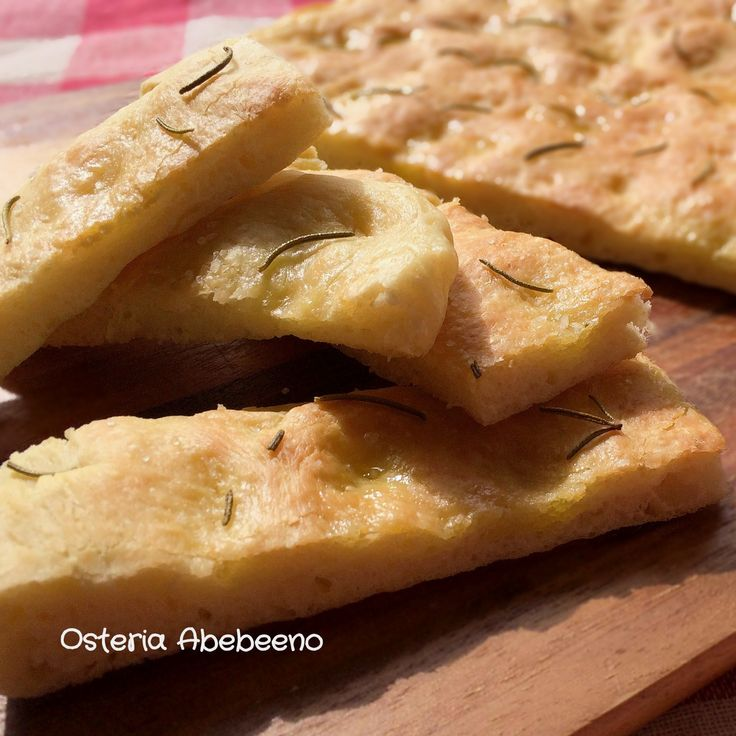 Focaccia Genovese ジェノヴァ風フォカッチャ - Osteria Abebeeno