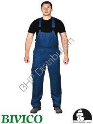 Granatowe spodnie ochronne ogrodniczki LH-BISTER