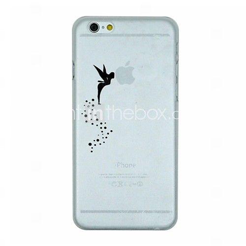 NOK kr. 17 - engel mønster pc hardt gjennomsiktig bakdekselet sak for iPhone 6