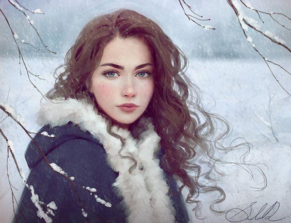 winter on the way by selenada - Digital Art by Selene  <3 <3