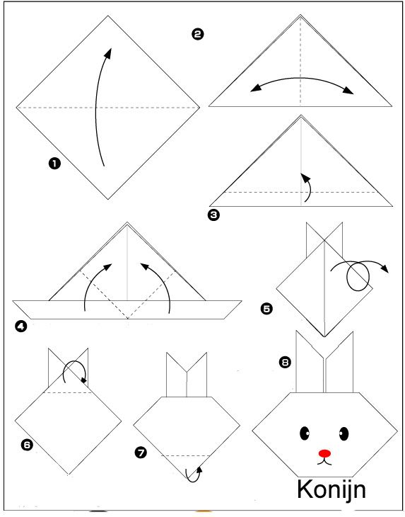 origami-konijn vouwen
