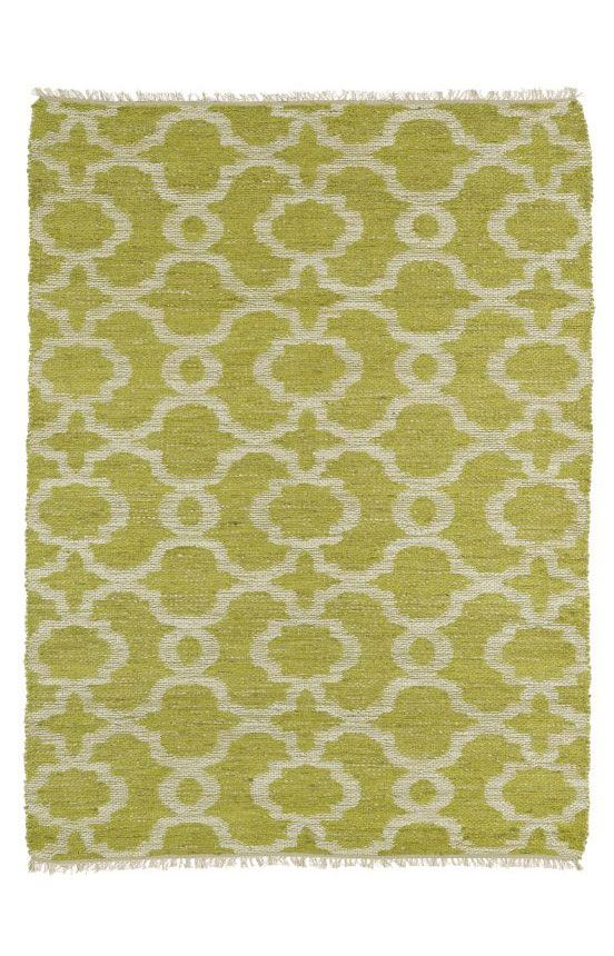Brown and lime green rug rugs ideas for Green and cream rugs