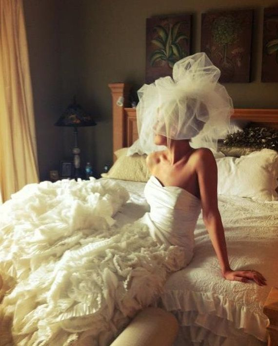 Words do not describe this veil. High Fashion Couture style Stunningly Gorgeous! This veil is fit for a queen! It is simply about the most
