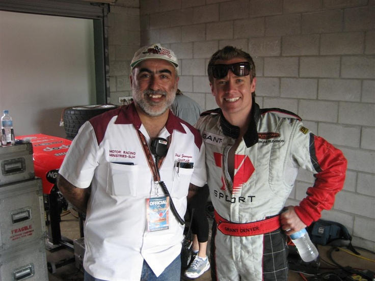 Me with Grant Denyer; race driver; TV presenter and all-round good guy.