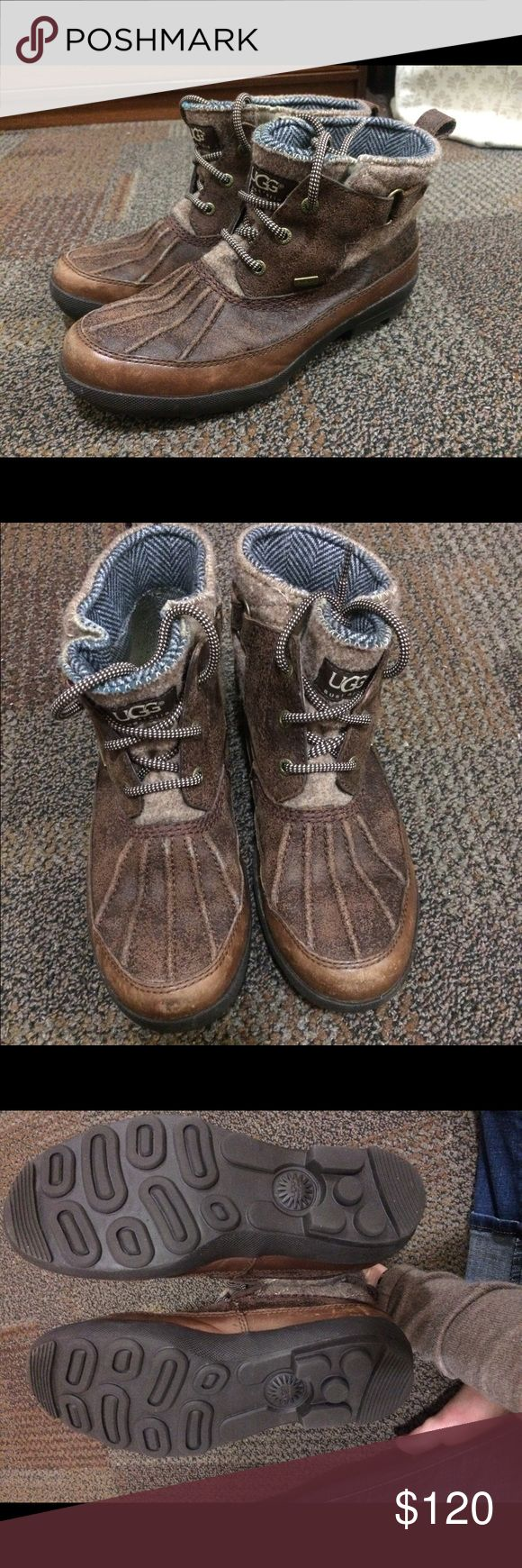 Ugg boots! Bean boot style Ugg boots. Hardly worn, still look brand new. Extremely warm and stylish. Price negotiable UGG Shoes Winter & Rain Boots
